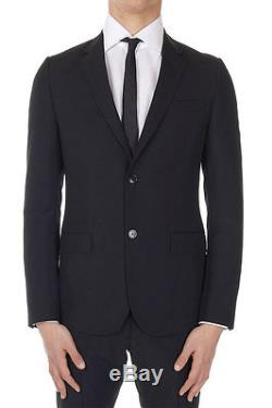 GUCCI Men New Black Mohair Wool Suit Blazer Trouser Made in Italy