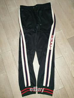 GUCCI side tape logo joggers black pants without new tag sz. M