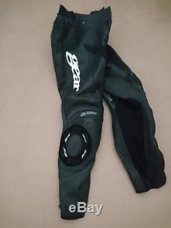 Gear Leather motorcycle trousers With Knox Armour and knee sliders