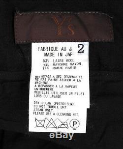 Genuine Yohji Yamamoto Ys Wool Blend Loose Black Men Pants in size 2