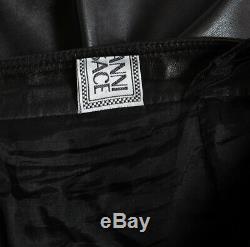 Giann Versace Pre-Death Vintage 90's Black Leather Pants sz52 32 x 34