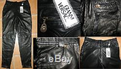 Gianni Versace vtg nappa leather trouser New with Tags $1600 44T