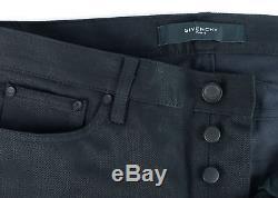 Givenchy Men's 100% Cotton Solid Black Jeans Size US 30RTL$410NIB