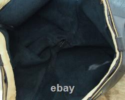 Glattleder Kniebundhose mit Gürtel 46-64 feines Natur Leder black glänzend 802