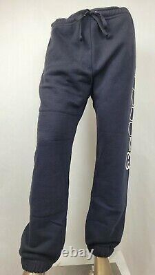 Gucci Men's Black Cotton Sweatpants with White Logo 2XL 497252 1082