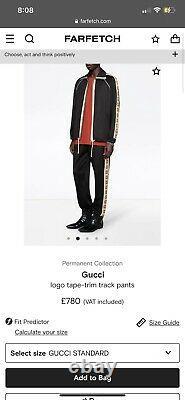 Gucci Reflective GG logo Tape-trim Track Pants Joggers Size M RRP £780