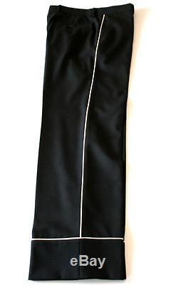 Gucci Stretch Twill 70's Style Loose Black Trousers Piping RRP£405 W30 L32 EU46