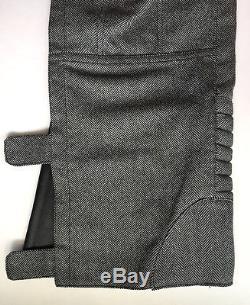 Gucci Tom Ford Era Motorcycle Biker Pants Mens 32 Balmain Leather Wool $10k RARE
