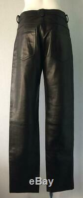 Gucci by Tom Ford Leather Trousers Pants Jeans