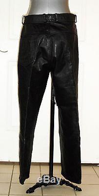 Hein Gericke Harley Davidson Leather Motorcycle Pants Mens Sz 36 Biker Trousers