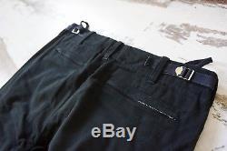 HELMUT LANG A/W99 Mens Black Cargo Bondage Flight Trousers Sz 46