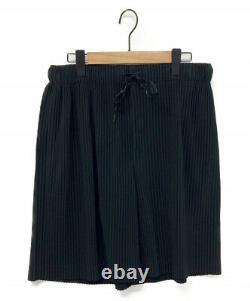 HOMME PLISSE ISSEY MIYAKE Pants Black Size 2 HP01JF148