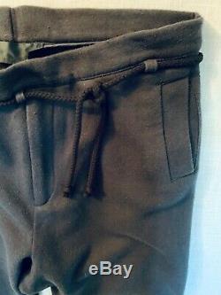 Haider Ackermann Gray / Black Tie Waist Jersey Trouser Sweatpants PreSpring 2010