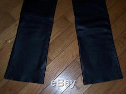 Hein Gericke Echt Leder Black Leather Biker Motorcycle Pants Size 32 Length 35