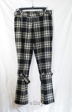 Helmut Lang Tartan Bondage Pants