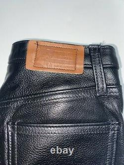 IMAGE LEATHER Size 30 Black Leather 30 Snap Fly Denim Cut Pants San Francisco