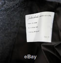 INDIVIDUAL SENTIMENTS ex CARPE DIEM ALTIERI WOOL NAVY BLACK TROUSERS 3JP, 1040$