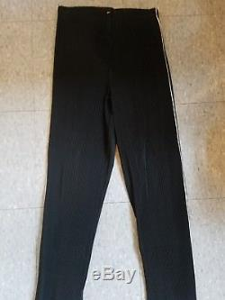 ISSEY MIYAKE Bergdorf Goodman Black Pleated Pants, Size M