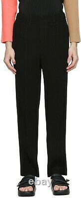 ISSEY MIYAKE Homme Plisse Tuxedo Trousers Black Size 3 RRP 520USD