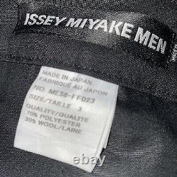 ISSEY MIYAKE MEN Black Pleated Loose Pants JP Size 3