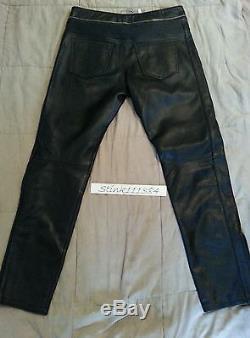 Isabel Marant H & M Black Leather Biker Pants 36 Retail Price