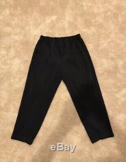 Issey Miyake Homme Plisse Trousers Black Mens Size 3