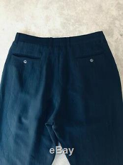 Issey Miyake Men Wide Leg Wrinkle Fabric Trousers in Black Size L/ XL