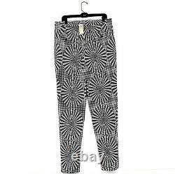 Issey Miyake Mens Black White Optical Illusion Sz L Dress Pants NWT