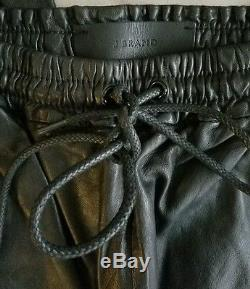 J Brand Leather Joggers LARGE