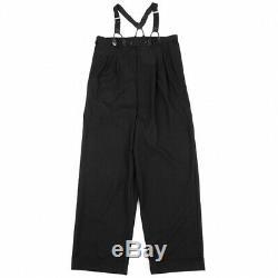 Jean-Paul GAULTIER CLASSIQUE Wool Suspender Pants Size 48(K-77644)