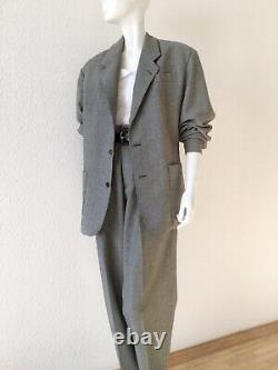 Jean Paul Gaultier Pour Bogys Rare Numbered Trousers Jacket Suit Wool