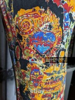 Jean Paul Gaultier SS2000 Runway Graffiti Denim Pants Black