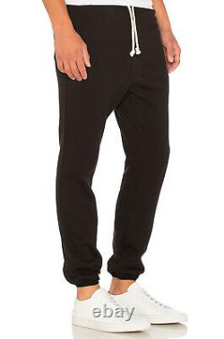 John Elliott Black Raw Edge Mens Sweatpants 4 XL X-Large New Joggers Sweats