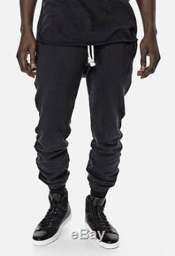 John Elliott Slate Black Raw Edge Mens Sweat Pants Medium 2 Joggers Sweatpants
