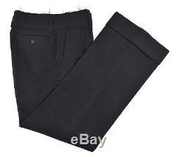 Junya Watanabe x Comme des Garcons JAPAN Black Tweed Wool Frayed Flannel Pants M