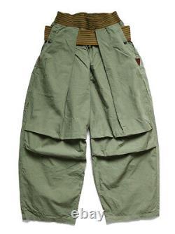 KAPITAL Cotton Dump ARMY Shimokita Jumbo Pants Military Pants Khaki / Black