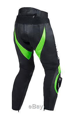 Kawasaki Green Black Moto gp Armored Women Men Motorcycle Leather Pants