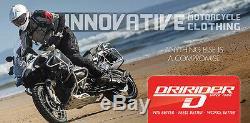L Large Mens Dririder Nordic 2 Leather Textile Waterproof Motorbike Pants Black