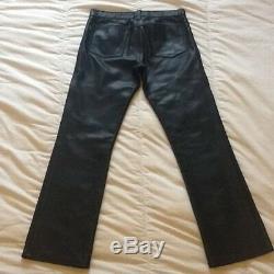 Leather Pants, Men's, black, PUNKuture, 30
