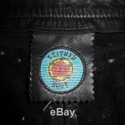 Leather Rose Black Men's Pants Jeans 30 Inseam 30 Rocker Punk LA Cowboy
