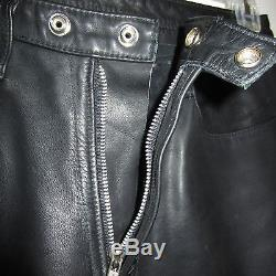 Leather Rose Black Men's Pants Jeans 30 Inseam 30 Rocker Punk LA Cowboy