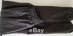 M En Noir Python embossed Leather Sweatpants Joggers $2000