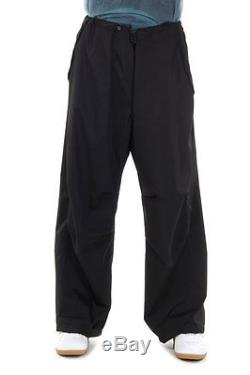 MAISON MARTIN MARGIELA Men New Black Oversize Pants Trousers Made Italy
