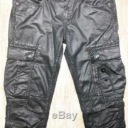 MINT! POLO Ralph Lauren Black Label Coated Military Cargo Pants MENS 30x32