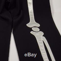MOSCHINO CHEAP & CHIC Vintage Men's Skeleton Dress Pants Italy BLACK Size 34W