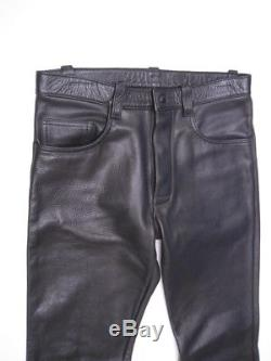 MR. S Leathers San Francisco Black Leather Pants Jeans Tag Size 33