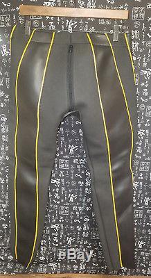 MR S. San Francisco Black/Yellow Rubber Fetish Bondage Pants Men's L
