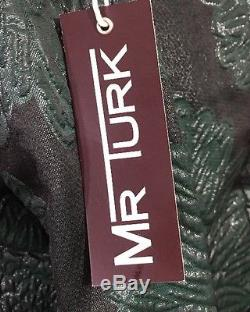MR. TURK MEN'S WILSON TROUSER BLACK/GREEN 34w NWT