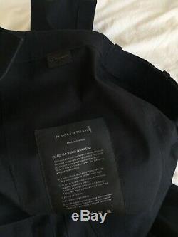 Mackintosh 0001 x Kiko Kostadinov Black Bonded Cotton Wide Leg Trousers M