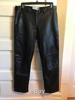 Maison Margiela Cropped Leather Replica Pants Men's US 30 IT 44
